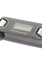 아이폰 5 및 다른 사람을위한 USB 케이블에 2.0MM 오디오 male 형 커넥터를 가진 사각형에서 차 무선 FM 송신기
