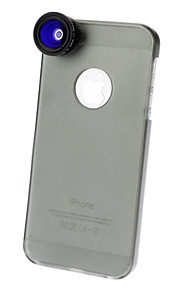 0.28X Fisheye Lens with 0.68X Wide Angle,4.0X Macro Lens and Ultraslim Matte PC Hard Case for iPhone 5 (Optional Colors)