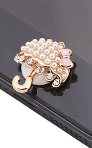 Paraply formet Pearl Alloy Button Sticker