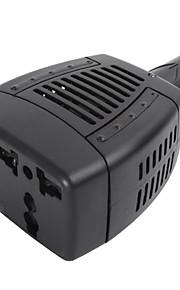 High Performance Modified Sine Wave 75-Watt 12-Volt DC to 220-Volt AC Power Inverter with 5-Volt 0.5A