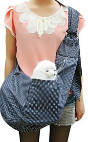 Gato / Cachorro Tranportadoras e Malas Animais de Estimação Cestos Portátil / Respirável Azul Algodão