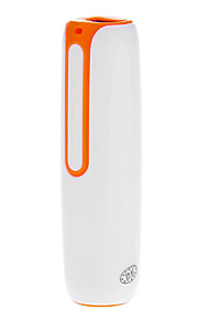POWER TUBE 2200mah Portable Power Bank for Mobile Devices White and Orange