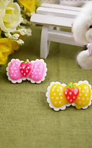 Strawberry Butterfly Knot Pet Hairpin(Random Color)