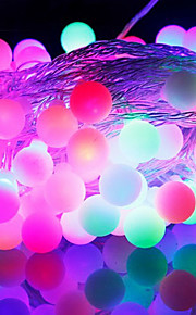 [Newyearsale] 50 הובילו לאיחוד האירופי עמיד למים 9m לחבר אור אור RGB קישוט חג המולד חיצוני הוביל מחרוזת (220V)