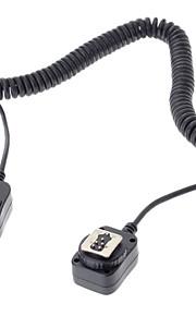 flashgun 580EX 430EX lanterna cabo de conexão para Canon EOS 5D 6D 7d iii 70d 60d 700d 650D câmera DSLR - preto (360 centímetros)