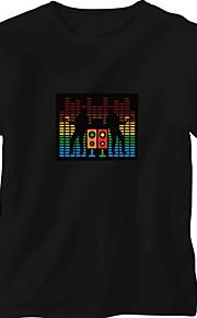 Udskiftning lyd og musik Aktiveret Spectrum VU Meter EL Visualizer (Non inkluderet T-shrit)