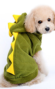 Dog Costume / Hoodie Red / Green Dog Clothes Winter / Spring/Fall Cartoon Cute / Cosplay