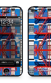 """Da Code ™ Skin voor iPhone 5/5S: """"Red Fire Escapes"""" (City Series)"""