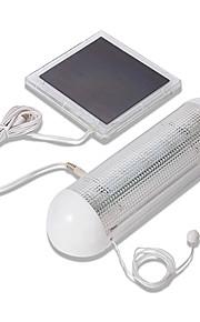 5 LED Innendørs Utendørs Solar strømforsyning Panel Hage kontakt lampe skur hage Lett (CIS-57248)