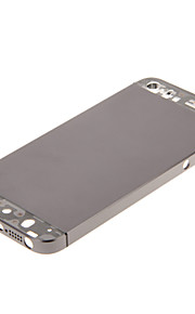 Gray Hard Metal Alloy Tillbaka Batterihus med Transparent Glas för iPhone 5s