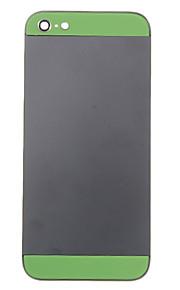 Black Metal Alloy Voltar Bateria Caixa com vidro verde para o iPhone 5