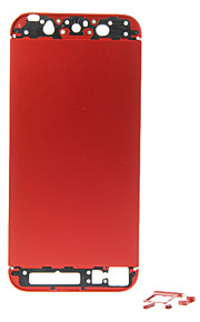 Red Metal Alloy Batteribokser med knapper for iPhone 5