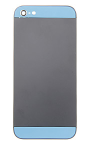 Black Metal Alloy Voltar Bateria Caixa com vidro azul para iPhone 5