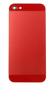 Красный металлический сплав Назад Корпус батареи с красным стеклом для iPhone 5