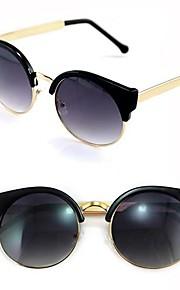 Kvinders Vintage Cat Eye Super Round metalcirklen solbriller