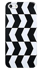 아이폰 5/5S를위한 블랙 & 화이트 패턴 뒤 케이스