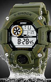 Masculino Relógio de Pulso Digital LCD / Calendário / Cronógrafo / Impermeável / alarme Borracha Banda Preta / Verde marca- SKMEI