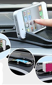 Silicone Car Cellphone Stand Pad for iPhone (Black)