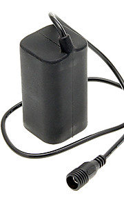 Genopladelige Water Resistant 18650 Battery Pack til cykel lys - Black (2-Parallel/2-Series)