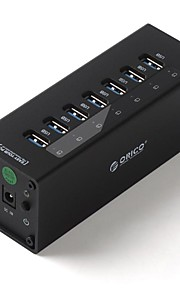 ORICO A3H7 7 Ports with Power Adapter USB3.0 HUB  for Computer