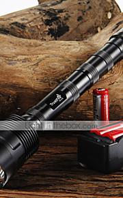 LED Lommelygter (Justerbart Fokus / Glidesikkert Greb) - LED 5 Tilstand 3800/3000 Lumens 18650 Cree XM-L T6 Batteri -