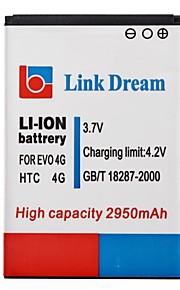 Enlace Dream High Quality 3.7V 2950mAh de la batería del teléfono celular para HTC EVO 4G