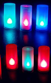 fargerike stearinlys form flamme abs ledet kveld lys for festival jul halloween