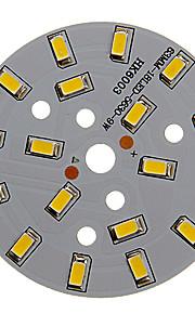 9W 800-850LM Varm White Light 5730SMD integrert LED-modul (27-30V)