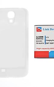 Link Dream 3.7V 6000mAh Verdikte mobiele telefoon batterij + White Back Cover voor S4 i9500 I545 I337 L720 M919 R970 (B600BC)