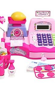 Bebês Felizes Finja and Play Supermercado Cash Register Kits for Kids Childrens brinquedo com Scanner