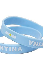 Argentina Flag Pattern 2014 World Cup Silicone Wrist Band