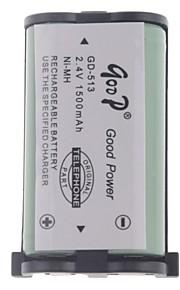 """2.4V """"1500mAh"""" Oplaadbare draadloze telefoon vervangende batterij"""