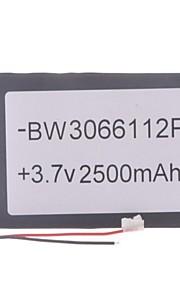 "Universele vervanging van 3.7V 2500mAh Li-polymer batterij voor 7 ~ 10 ""Macbook Samsung Acer Sony Apple Tablet PC (03 * 66 * 112)"