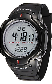 synoke relógio dos homens esportes relógio de pulso à prova d'água digital com despertador cronômetro levou