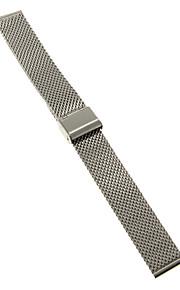 Masculino / Feminino Pulseiras de Relógio Aço Inoxidável #(0.047) #(16.5 x 1.8 x 0.3)