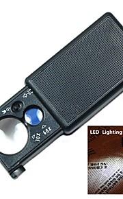 30x / 60x multiuso tipo retirada lupa com luz LED branca e luz de detecção de moeda roxo