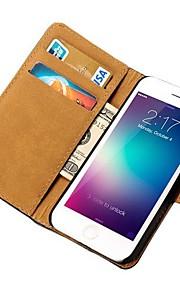 아이폰 6에 대한 카드 소지자와 정품 가죽 지갑 케이스 (모듬 색상)