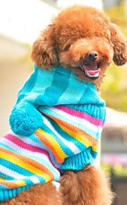Q-Base™ Rainbow Style Adorable Sweater Coat for Dogs Cats Hooded Pets Clothes MultiColor Cute and Comfortable
