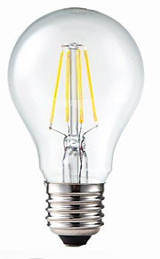 E26/E27 - 4.5 W- A - Globlampor (Varmt vit , Bimbar/Dekorativ) 400 lm AC 220-240