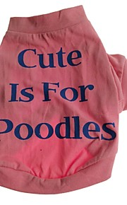 Cute Cotton Cute Is For Poodles pet Red T-shirt for Dogs Assorted Sizes