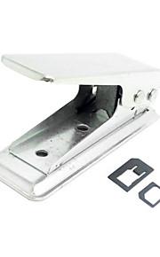 standaard sim naar sim-kaart punch mes nano met twee micro naar nano-adapter voor iPhone 5s 5 5c ipad mini