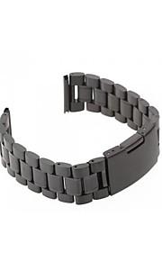 Mulheres Homens 22 milímetros de aço preto pulseira pulseira de banda relógio de alta qualidade universal