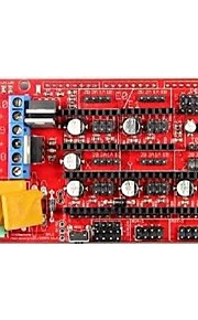 Robotale RAMPS 1.4 Reprap MendelPrusa 3D Printer Control Board - Red + Black