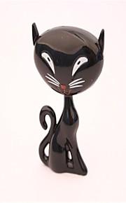 glip af nye mærkelige kat butan metal lightere sort, hvid