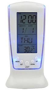 LED Blue Background Alarm Clock