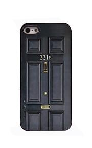 svart dörr designen aluminium hårt fodral för iPhone 4 / 4S