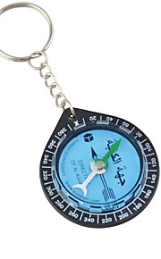 Key Ring Mini Compass for KAABA Positioning / QIBLA Finder (Assorted Colors)