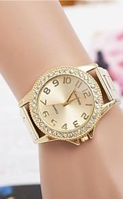 Mulheres Relógio Elegante Relógio de Moda Relógio de Pulso Quartzo imitação de diamante Lega Banda Dourada marca