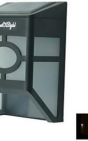 youoklight® høye strøm 2x leds varm / hvitt lys solenergi lykt lys gjerde lampe solenergi veggmontert lys