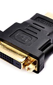 0,1 0.328ft dvi hane till HDMI hona hög slits guldplatta hd hdmi v1.4 datoranslutning adapter